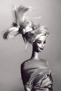 Art portrait of Barbie